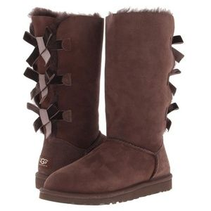 Ugg Chocolate Brown Bailey Tall Suede Boots